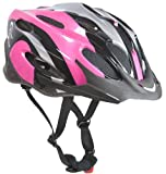 Sport Direct - Casco para mujer (talla 56 - 58), color rosa, negro y blanco