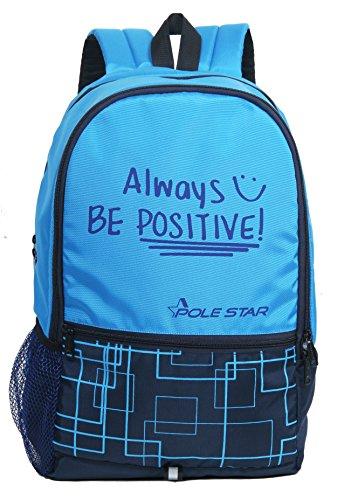 "POLE STAR ""HERO"" 32 Lt Sky & Navy Casual Backpack I bagpack"