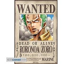 One Piece - Wanted Roronoa Zoro Póster Mini (52 x 35cm)