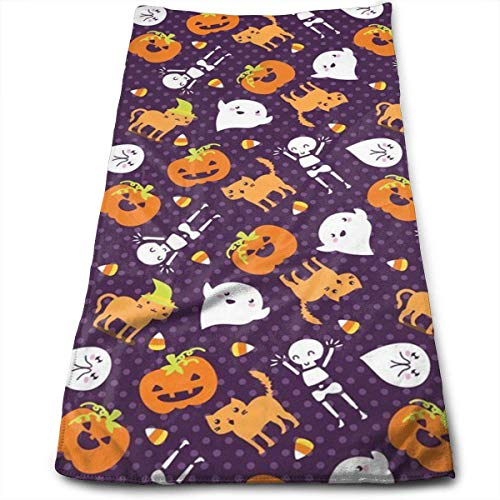 Silly Halloween Frightful Friends Super Soft, Machine Washable and Highly Absorbent,Towel(Wash Clothes, Face Towels, Fingertip Towels for Home, Gym or Sports