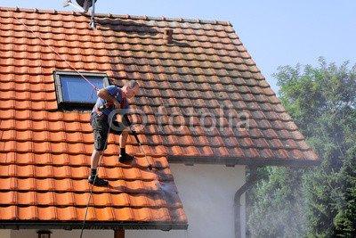 druck-shop24 Wunschmotiv: Dachreinigung mit Hochdruckreiniger #89717250 - Bild auf Alu-Dibond - 3:2-60 x 40 cm/40 x 60 cm