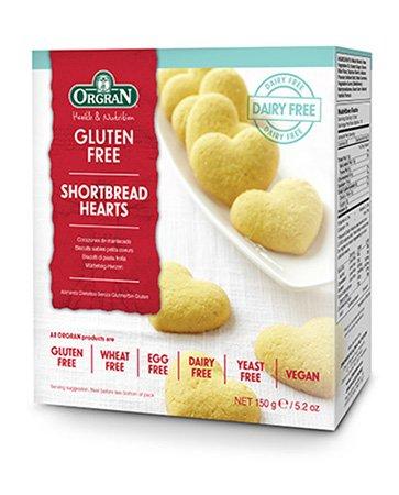 Orgran Shortbread Hearts 150G by Orgran