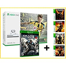 XBOX ONE S 500gb + FIFA 17 EA ACCESS 1 mes + GEARS OF WAR 4 + GOW 1,2,3 Y Judgment - MEGAPACK 6 Juegos