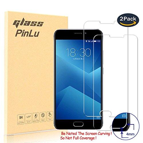 [2 Stück] pinlu® Panzerglas Bildschirmschutzfolie für Meizu M5 Note Transparent Glasfolie Protector 9H Härtegrad Schutzglas,99prozent Transparenz,Einfaches Anbringen,3D Touch Kompatibel