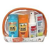 Reise-Set für Urlaub (sonnencreme, insektenschutzspray, hygiene Reinigungstücher), 1er Set