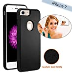 Material: PC+TPU, protect your phone from scratch and shock. Can stick to glass, mirrors, whiteboards, metal, kitchen cabinets or tile, car GPS and most smooth, flat surfaces. Nano-meter washable micro-suction back, the case sticks without being stic...