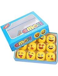 Emoji pelotas de golf para niños y adultos, 12unidades de pelota de golf para actividades en exteriores, regalo para golf Sports Fans Juguetes profesional pelotas Conjunto, distintos, Emoticon Smiley Expresiones
