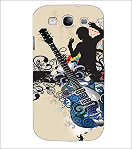 PrintDhaba Guitar D-4113 Back Case Cover for SAMSUNG GALAXY S3 (Multi-Coloured)