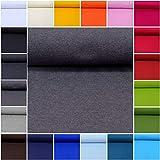 MAGAM-Stoffe ''Laura'' Bündchen-Stoff Uni | 20 Farben | sehr Hochwertiges Rippen-Bündchen Öko-Tex Qualität | Meterware ab 50cm (18. Dunkelgrau-blau)