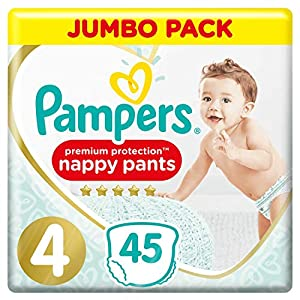 Pampers Premium Protection Pants Größe 4, 2x 45 Windeln