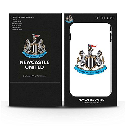 Officiel Newcastle United FC Coque / Etui Gel TPU pour Apple iPhone 6 / Mono/Blanc Design / NUFC Crête Football Collection Couleur/Blanc