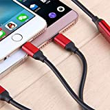 HAVIL 1,2Meter Dehnbar USB-Kabel Drei in Ladekabel Android/iPhone/der U89Mehrere Allgemeine Laden