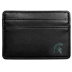NCAA Michigan State Spartans Leather Weekend Wallet, Black