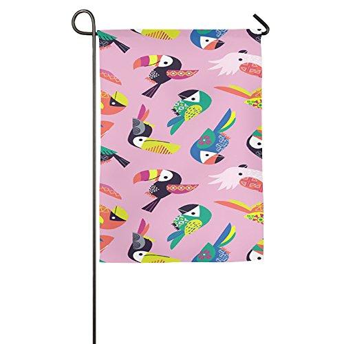 (Farbenfrohes Papagei House Flaggen, dekorative Flaggen, Outdoor Flaggen, Hof Flagge, Home Flagge, weiß, 30*46 cm)