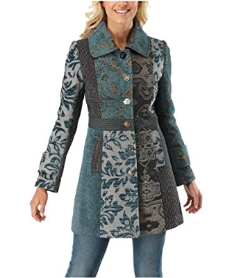 Joe Browns Women's From Russia With Love Coat Teal (8)