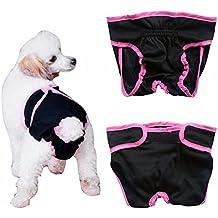 iEFiEL Pañal Reutilizable Lavable para Perros Braguita Suave para Mascota Perro Gato Ajustable Permeable al Aire