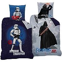 CTI Star Wars Reversible Juego de cama 135x 200cm + 80x 80cm, 2diseños 100% algodón Empire