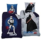 CTI Star Wars Wende Bettwäsche Set 135x200cm + 80x80cm 2 Motive 100% Baumwolle Empire