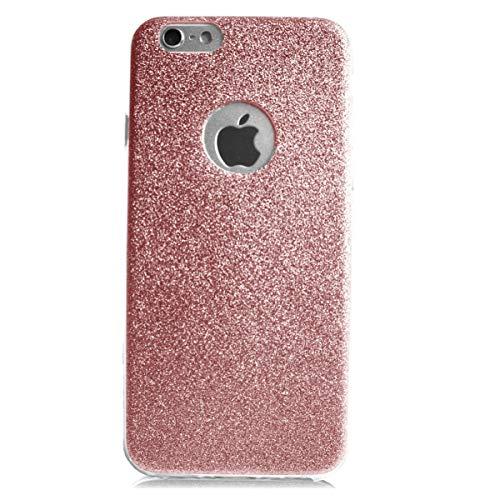 Glitzer Schutz Hülle TPU für Apple iPhone 4 4s Bling Weich Hülle Strass Weich Silikon Dünn Tasche Glitzer Handy Cover Case (Iphone 4 Bling Strass Hülle)