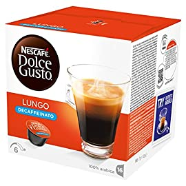 NESCAFÉ Dolce Gusto Lungo Decaff Coffee Pods, 16 Capsules (48 Servings, Pack of 3, Total 48 Capsules)