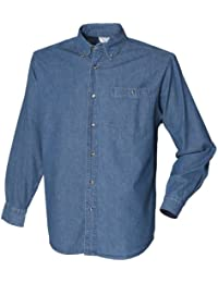 Front Row - Chemise en jean à manches longues 100% coton - Homme