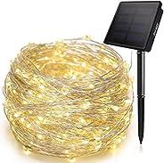 شريط ضوء انكواي يعمل بالطاقة الشمسية ب200 ضوء ليد مقاوم للماء يستخدم كاضواء للحديقة الخارجية
