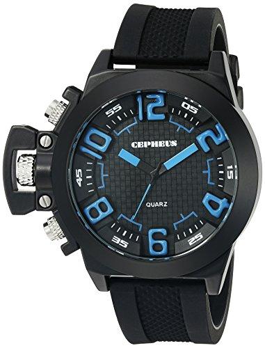 CEPHEUS Herren-Armbanduhr XL Analog Quarz Silikon CP901-622B