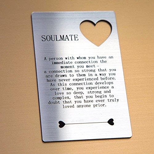 Soul mate citazione in carta regalo per lui/lei amo grande cuore tagliato design