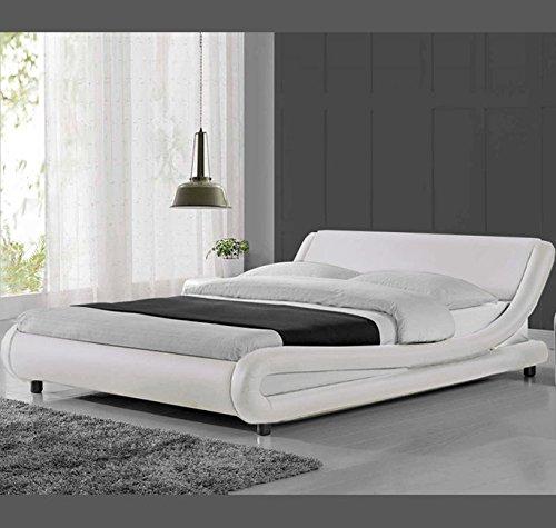 Letti e Mobili - Letto di disegno Alessia in colore bianco - 160 x190cm