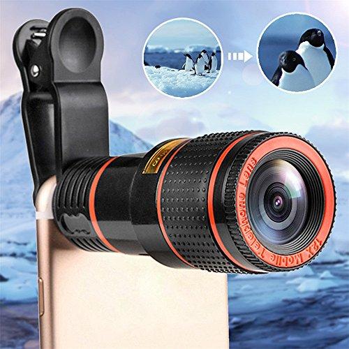 optischer Zoom-Kamera-Teleskop-Objektiv mit Clip für iPhone/Handy-Universal 3.5 * 8.6cm ()