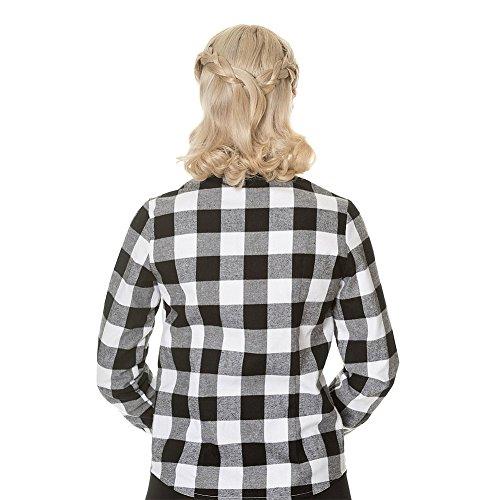 Banned No Boundaries Checked Shirt Weiß/Schwarz