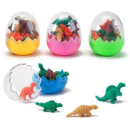Dinosaurier Spielzeug Dinosaurier Ei Kunststoff Dinosaurier Gummi Dinosaurier Eier Bunte Likable Gummi Tiere Set Mini-Größe 3 Sets