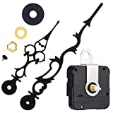 Meccanismo Movimento Orologio al Quarzo con 170 mm/ 6.7 Pollici Lancette Orologio per Fai Da Te Orologio da Parete (Nero)