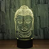 OOFAY LIGHT® 3D LED Nachtlicht Lampe Buddha 7 Farbwechsel Touch-Schalter USB Acryl Farbige Lichter Atmosphäre Lampe Schlafzimmer Licht Für Geschenk