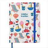 tiddler tracker | Preisgekröntes Baby Journal / Tagebuch | Tägliches Füttern, Schlafen & Ändern Tagebuch | Baby Meilensteine Rekordbuch | Einzigartiges Neu Geboren Logbuch |B6 Größe | Design: Strand