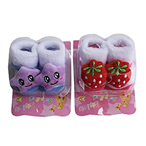 Born Baby Socks cum shoes - 2 Pair set