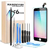NANDEYIBI Für iPhone 5C / 6 / 6Plus Reparaturset iPhone LCD Display Ersatz,Installationswerkzeug + Displayschutzfolie[iPhone 6, Schwarz]