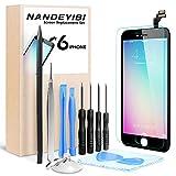 NANDEYIBI Für iPhone 5C / 6 / 6Plus Reparaturset iPhone LCD Display Ersatz,Installationswerkzeug + Displayschutzfolie[iPhone 6, Schwarz]