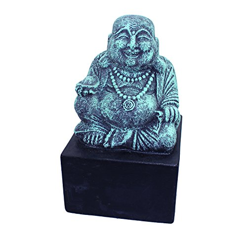 Buddha Büste 15x15x26 Figur Skulptur Glücksbuddha Deko
