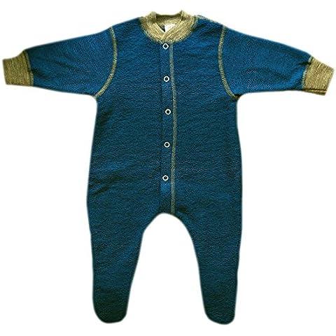 Engel, Calda lana Merino organica, per neonati, in spugna tutina pigiama con piedini
