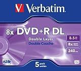 Verbatim DVD+R Rohlinge 8x Double Layer 8,5GB Jewel Case 5er Pack kratzfest Vergleich