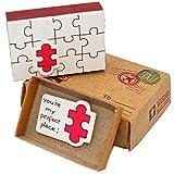 JIANYING Caja de cerillas, pequeña sorpresa en la caja de cerillas. de felicitación, divertido, freches regalo de 3x U Matchbox, color Liebe - Puzzle-Teilchen