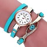 Cristal Elegante Mujer Reloj Analógico de Cuarzo Dial, Correa de Acero Inoxidable Reloj Moderno para Mujeres Tipo de joyería Correa de Metal MNRIUOCII