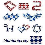 CC*CD CC * CD MAGIC Snake Form Spiel 3D Cube Puzzle Twist Puzzle Geschenk 4* 4cm (zufällige Farbe)