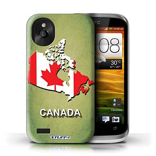 Kobalt® Imprimé Etui / Coque pour HTC Desire X / Autriche conception / Série Drapeau Pays Canada