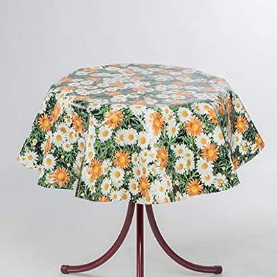 EHT Tischdecke Wachstuch Gartentischdecke rund eckig oval in Verschiedenen Größen Meterware Wachstischdecke Blumenwiese von EHT - Gartenmöbel von Du und Dein Garten