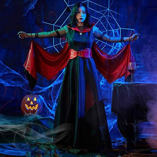 Tjtcs Halloween Königin-Kostüm Ampire Vampire Bat-Kostüm Dämon Cosplay Partei-Abend langes (Professionelle Burlesque Kostüm)