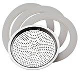 pedrini 883336290839Notebook 3Dichtungen + Filter 3Tassen, Aluminium, Weiß, 4Stück
