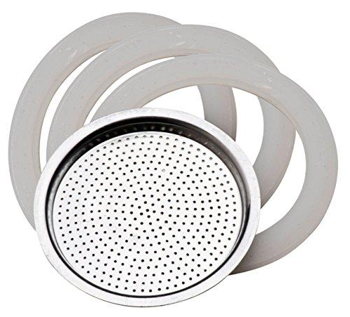PEDRINI 02CF039-RG1 Ricambio Tazze, Acciaio Inossidabile, Bianco, 10, 4 unità