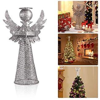 Amosfun-Weihnachtsbaum-Topper-Christmas-Tree-Engel-Baumwipfel-glitzernden-Silber-Weihnachtsbaum-Dekoration-Christbaumschmuck